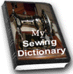 my sewing dictionary pic